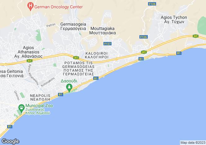 Map for Limassol, Yermasoyia