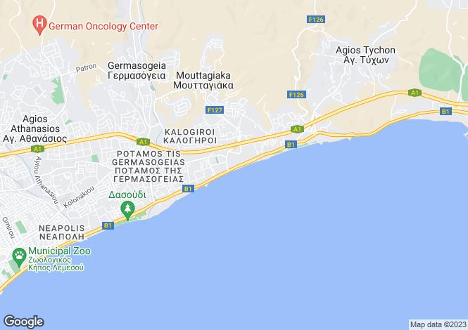Map for Limassol, Mouttagiaka