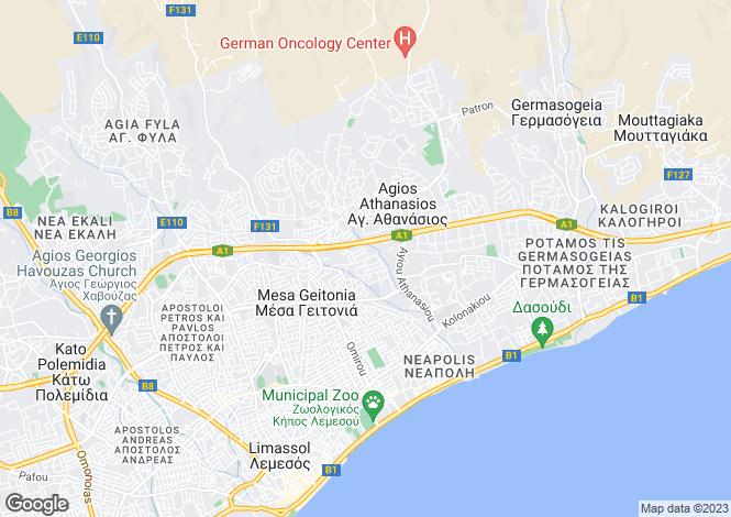 Map for Cyprus - Limassol, Mesa Gitonia