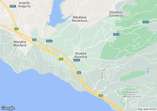 Map for Kouklia, Paphos, Cyprus