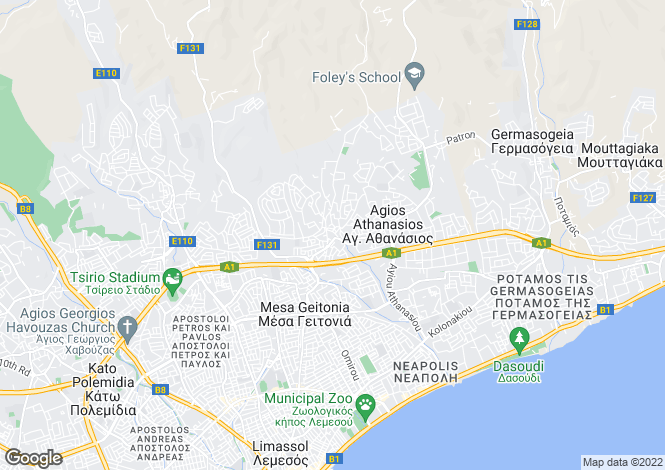 Map for Agios Athanasios, Limassol
