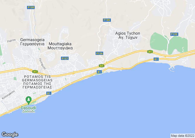 Map for Limassol, Amathus