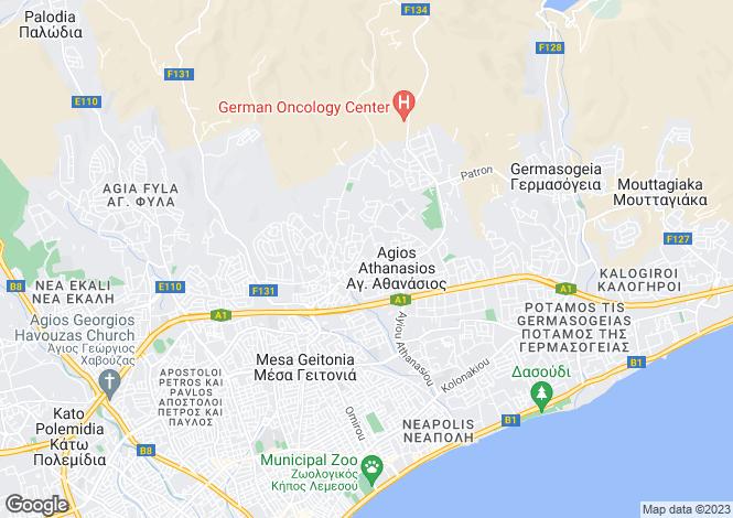 Map for Limassol, Agios Athanasios