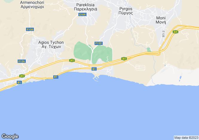 Map for Pareklissia, Limassol