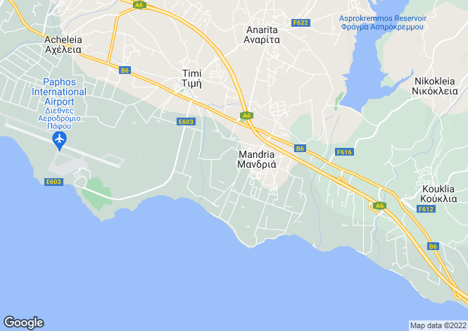 Map for Paphos, Mandria
