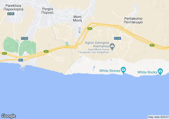 Map for Limassol, Moni