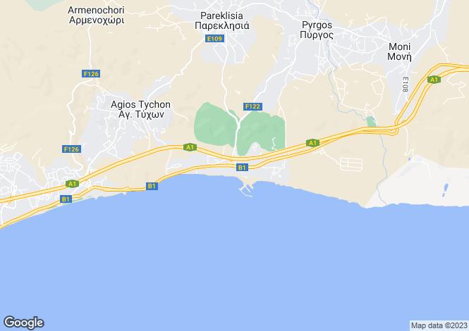 Map for St Rafael Limassol, Limassol, Cyprus