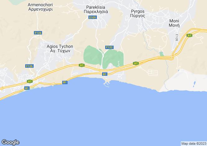 Map for Limassol, Agios Tychonas