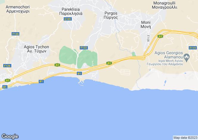 Map for Pyrgos, Limassol