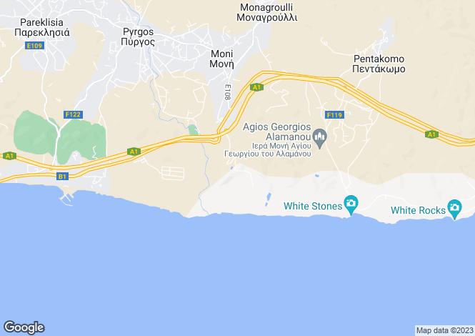 Map for Moni, Limassol, Cyprus