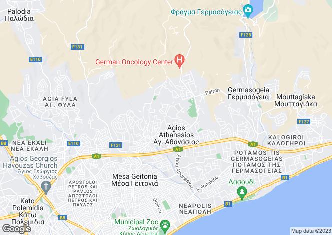 Map for Cyprus - Limassol, Agios Athanasios