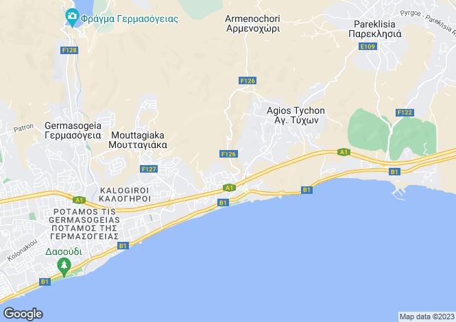 Map for Cyprus - Limassol, Agios Tychonas