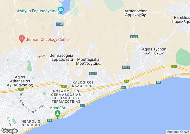 Map for Mouttagiaka, Limassol