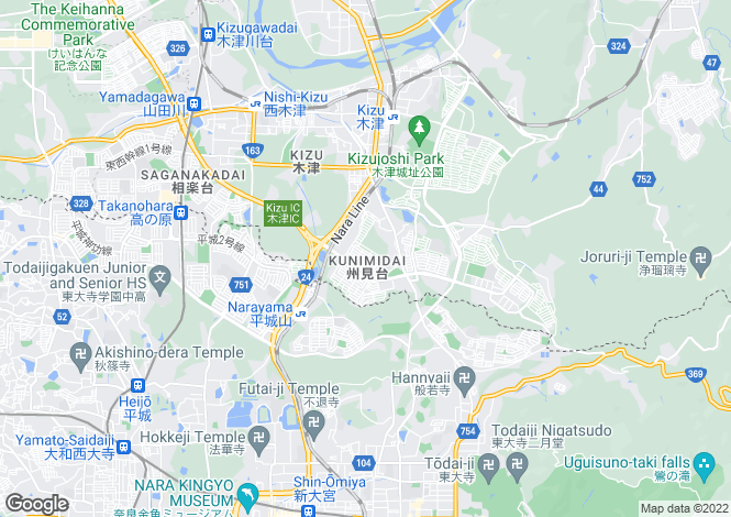 Map for Kyoto