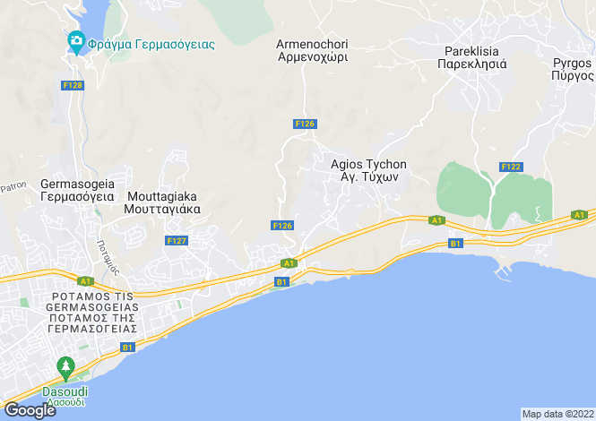 Map for Ayia Tychonas, Limassol, Cyprus