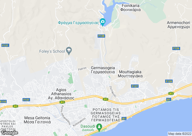 Map for Limassol, Germasogeia