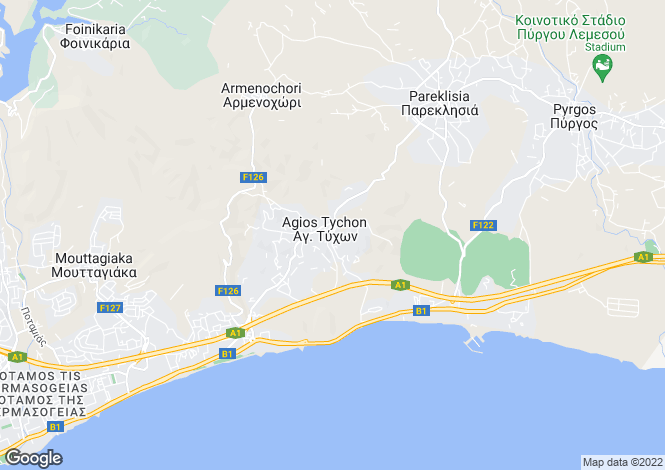 Map for Cyprus - Limassol, Agios Tychonas