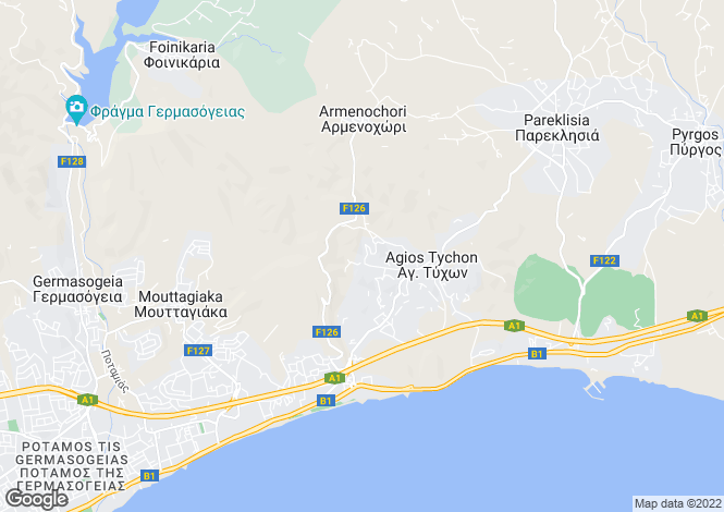Map for Limassol, Agios Tychonas