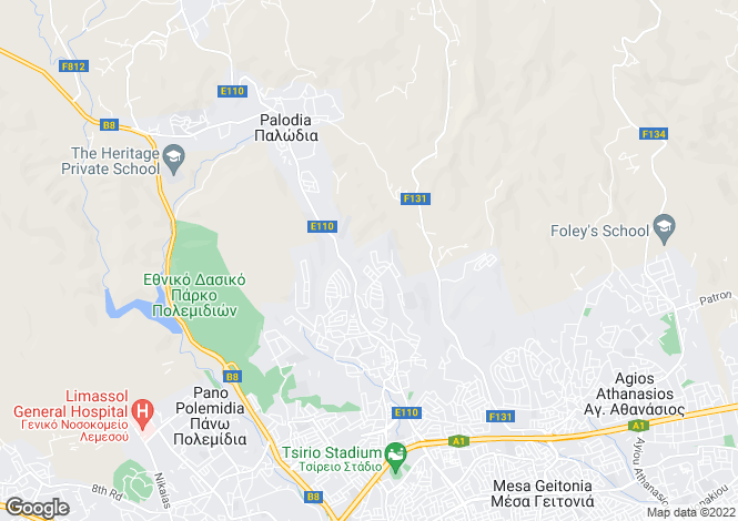 Map for Limassol, Agia Fyla