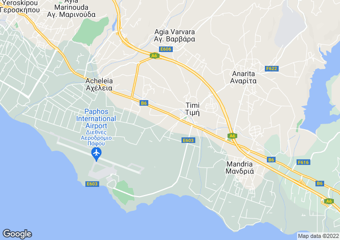 Map for Paphos, Timi