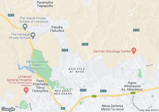 Map for Cyprus - Limassol, Agia Fyla