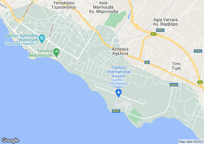 Map for Paphos, Peyia