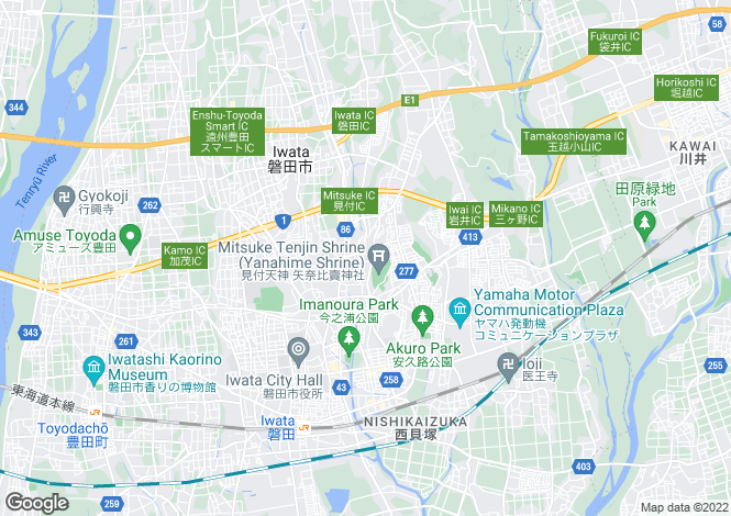 Map for Niigata, Mitsuke