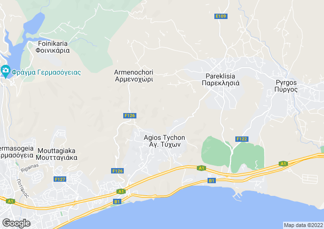 Map for Cyprus - Limassol, Parekklisia
