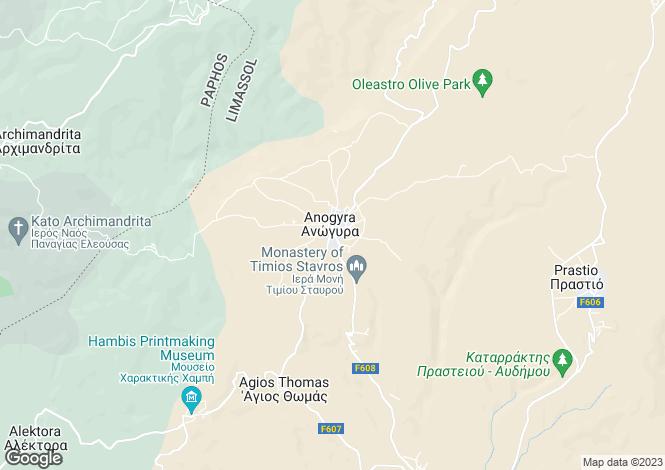 Map for Limassol, Anogyra