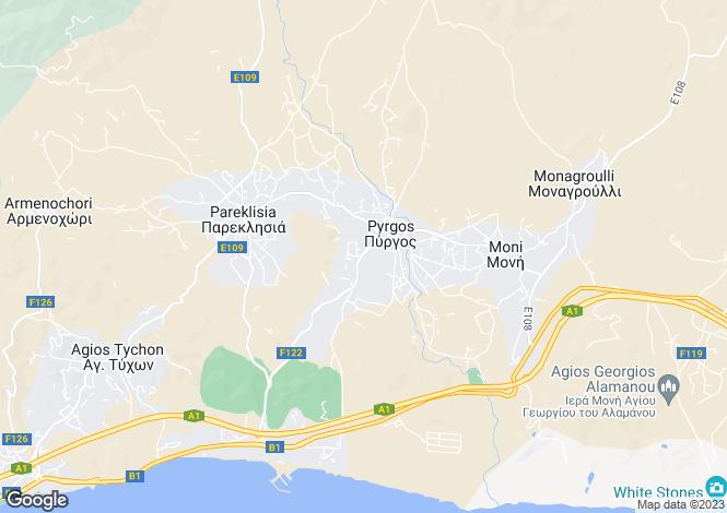 Map for Cyprus - Limassol, Pyrgos