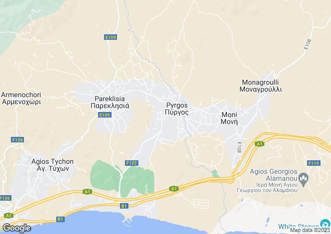 Map for Limassol, Pyrgos