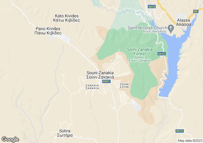 Map for Limassol, Souni