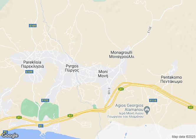 Map for Cyprus - Limassol, Moni