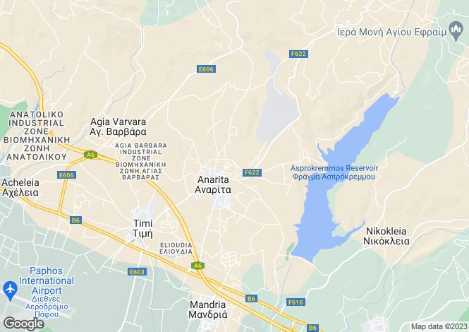 Map for Anarita, Paphos