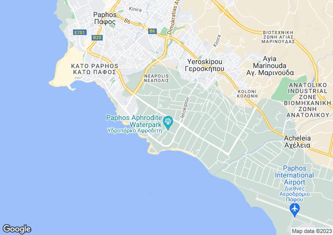 Map for Paphos, Kato Paphos
