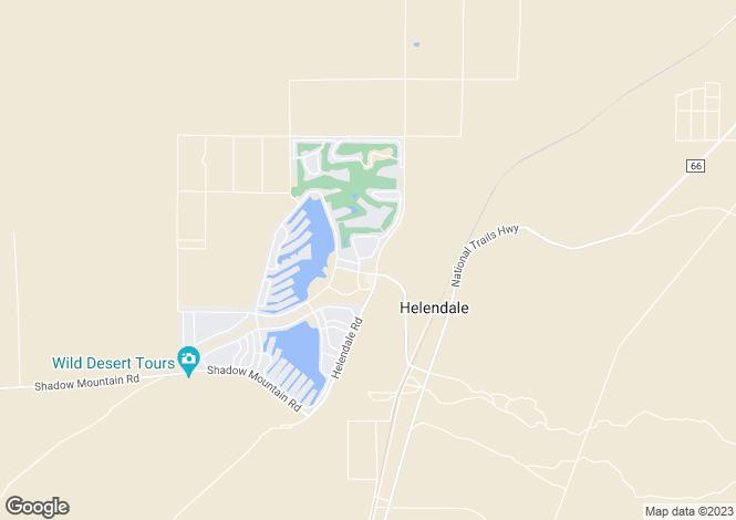 Map for California, San Bernardino County, Helendale