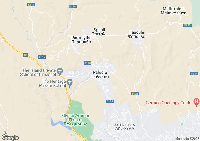 Map for Limassol, Palodeia