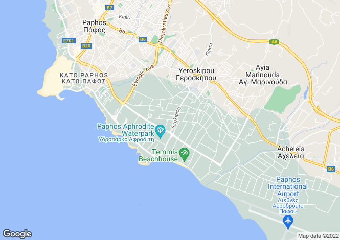 Map for Geroskipou, Paphos