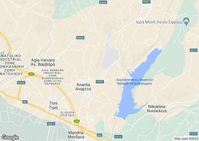 Map for Paphos, Anarita