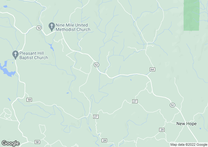 Map for USA - Georgia, Gilmer County, Ellijay