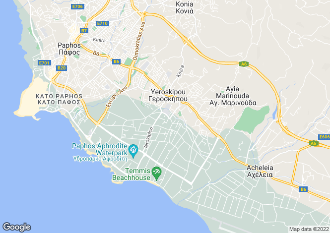 Map for Geroskipou, Paphos, Cyprus