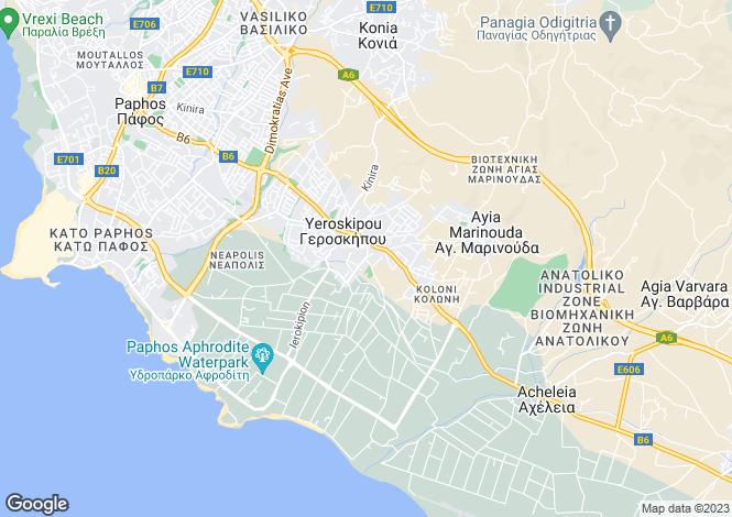 Map for Paphos, Geroskipou