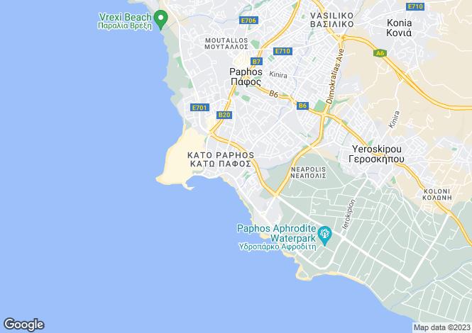 Map for Cyprus - Paphos, Kato Paphos