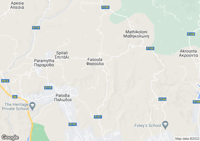 Map for Cyprus - Limassol, Fasoula