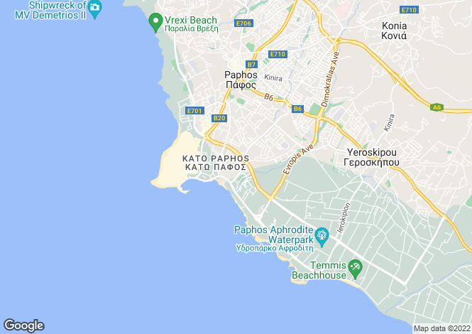 Map for Kato Paphos - Paphos - Cyprus