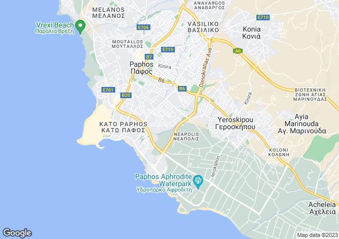 Map for Kato Paphos - Paphos - Cyprus