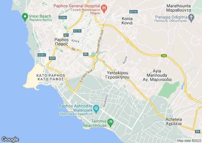 Map for Agios Spyridonas, Limassol