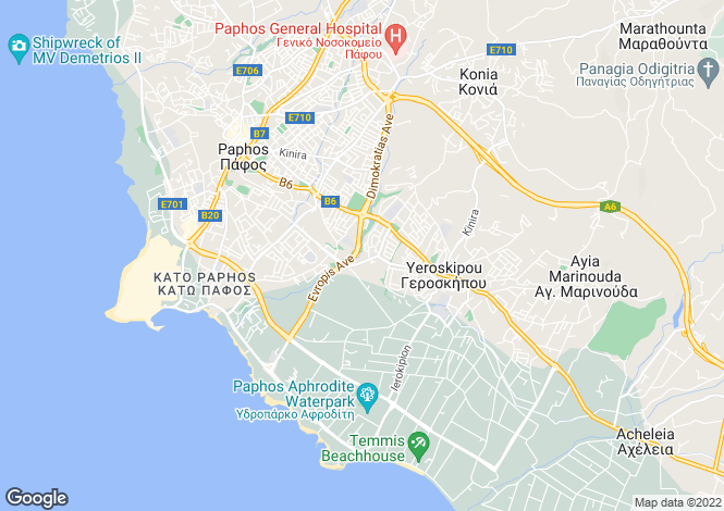 Map for Paphos, Geroskipou