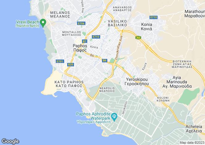 Map for Paphos Centre, Paphos, Cyprus