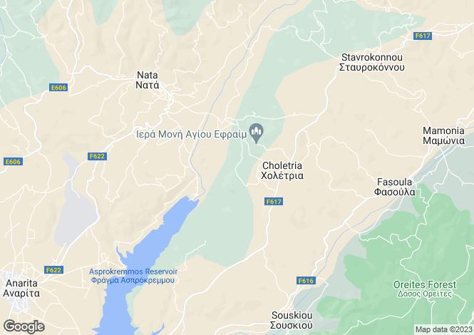 Map for Paphos, Choletria